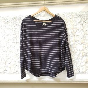 We the Free striped button sleeve top